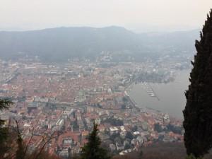 Brunate'den Como Manzarası