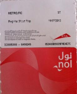 Dubai Metro Bileti