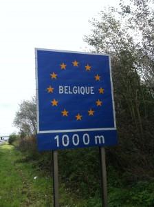 Belçika sınırı 1 km kala
