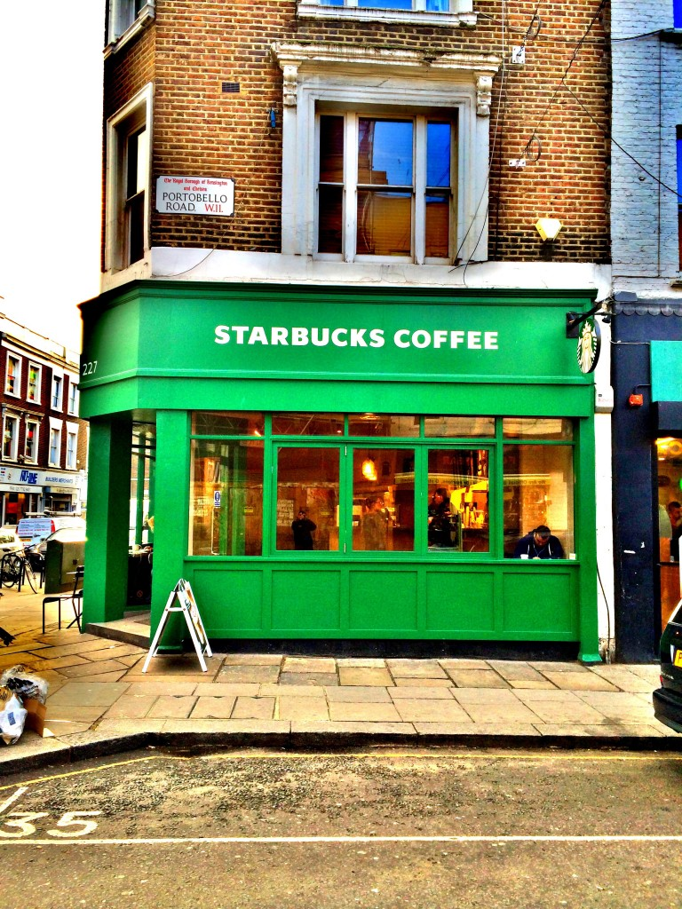 Portobello'daki Starbucks