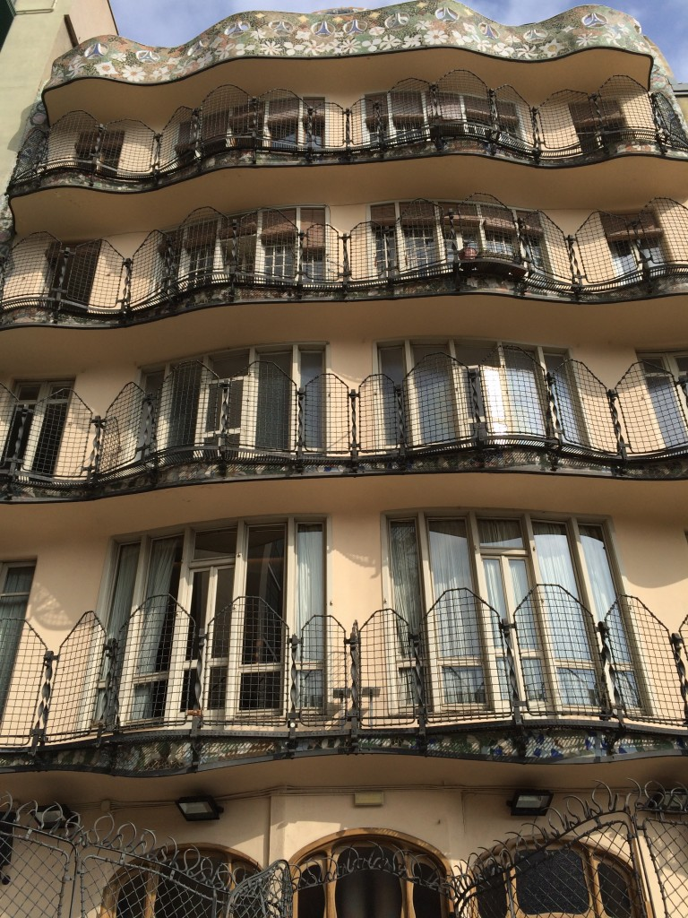 Casa Batlló'nun arka cephesi