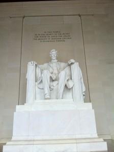 Lincoln Memorial'daki Abraham Lincoln Heykeli