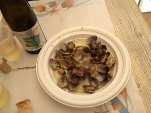 İstridye ve Cinque Terre Beyaz Şarabı