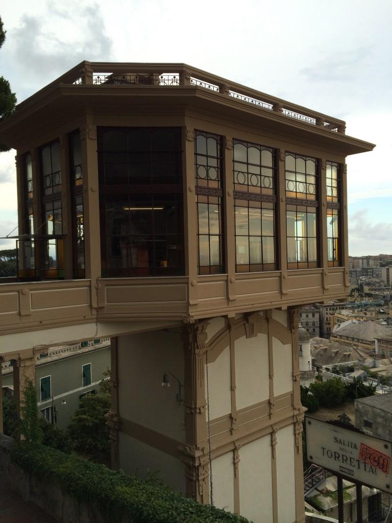 Asansörün Castelletto'dan görünümü