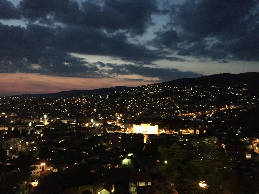 Restauranttan Saraybosna Manzarası