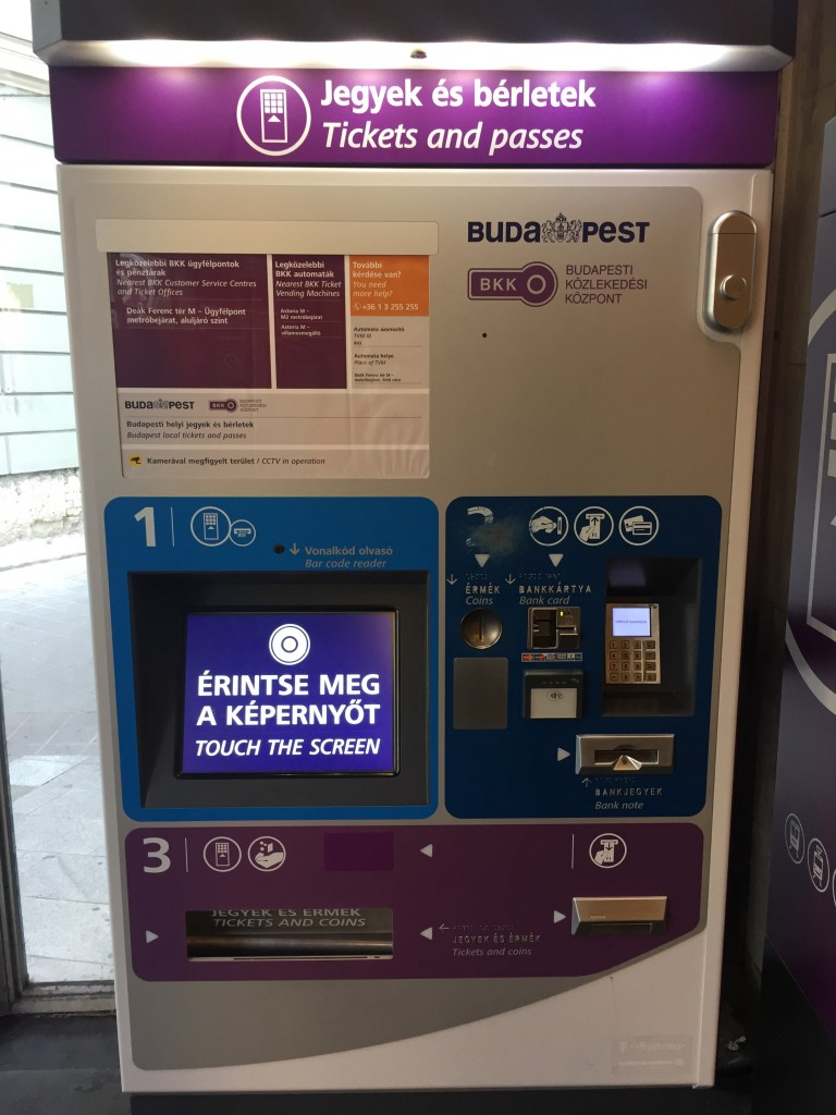 Metro istasyonlarındaki bilet makinaları