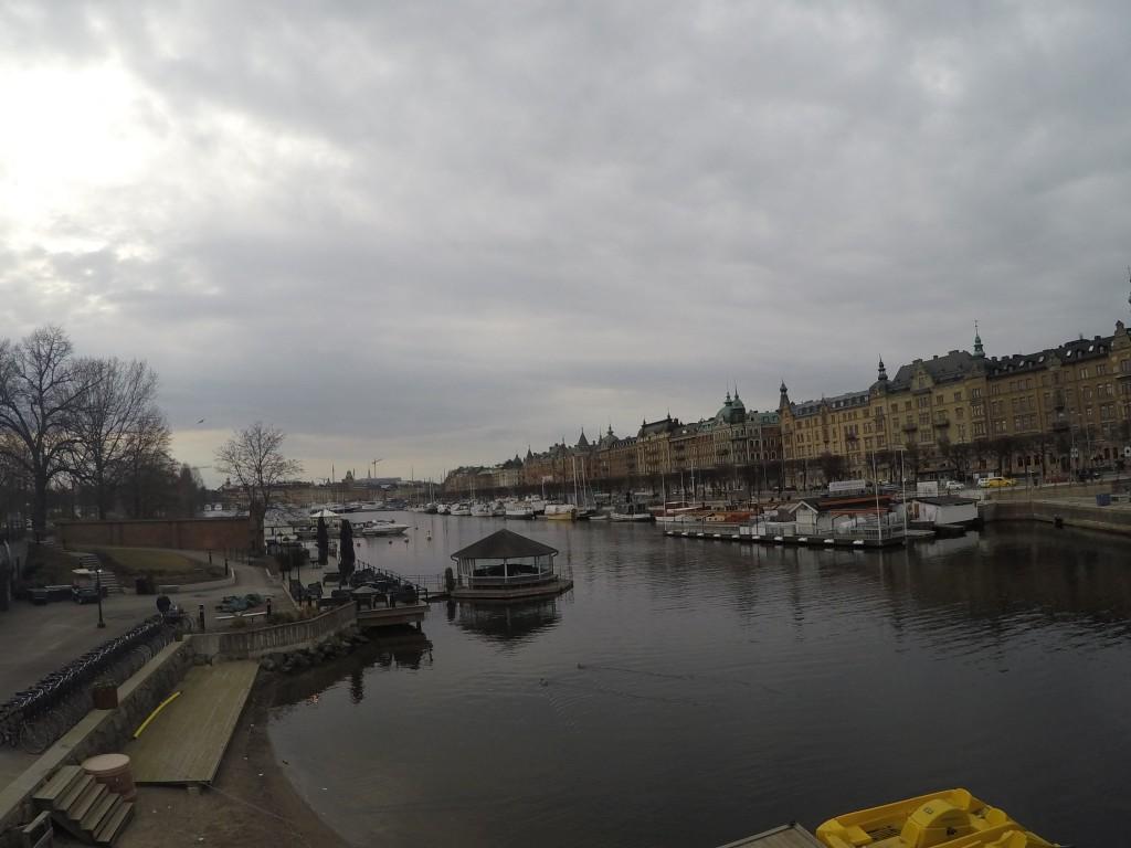 Vasa Müzesi'nin Önünden Şehir Silüeti